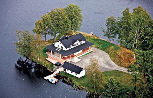 In Schwedens Ferienhäusern lässt sich tage- und wochenweise ganz wie ein Star wohnen. (Foto Novasol)
