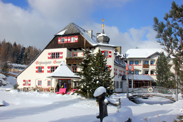 Ein Wintertraum mit tollem Service und toller Lage: das Schlosshotel Seewirt an der Turracher Höhe. (Foto Karsten-Thilo Raab)