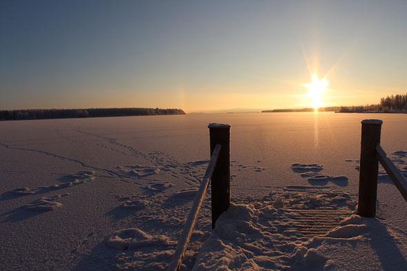 Schön An- und Aussichten sind entlang einer Ice Road garantiert.
