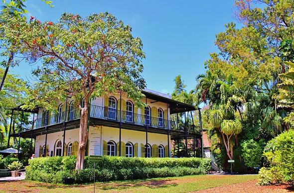 Mekka der Hemmingway-Fans ist das einstige Wohnhaus des Literaten in Key West.