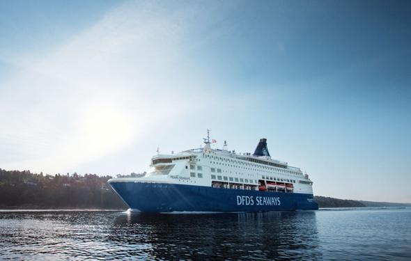 DFDS bietet eine bequeme Fährverbindung zwischen Kopenhagen und Oslo an.