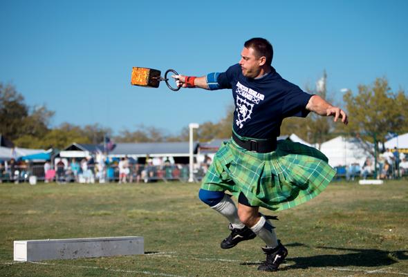 Ein Stück Schottland mitten in Florida: die Highland Games in Dunedin, die seit 1966 ausgetragen werden. (Foto: Visit St. Pete/Clearwater)
