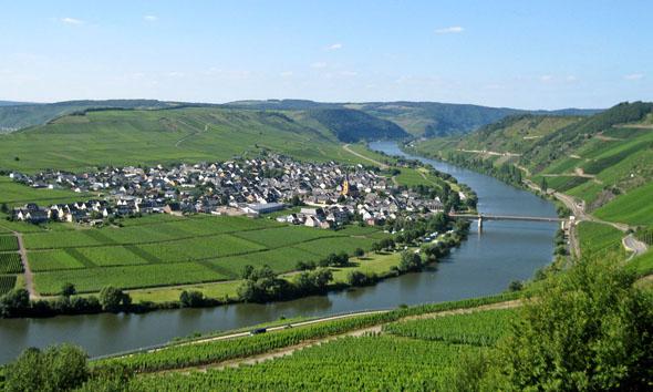 Traumblick: Die Moselschleife zwischen Leiwen und Trittenheim. (Foto: djd)