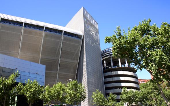 Der berühmte Fußballtempel in Madrid: das Estadio Santiago Bernabéu. (Foto Karsten-Thilo Raab)