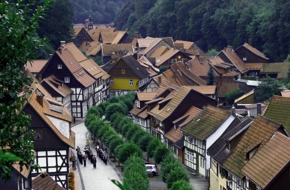 Stolberg - hier mit der prächtigen Rittergasse - gilt als eine der best erhaltenen Fachwerkstädte Deutschlands. (Fotos KES Südharz)