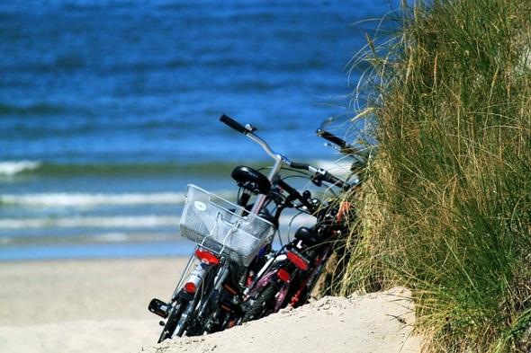 Ein Abstecher zum Strand gehört bei Touren entlang der Nordseeroute dazu.