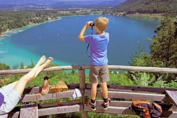 Türkisblau und einladend: der Klopeinersee. (Foto Daniel Zupanc)