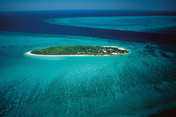 Inseltraum und Traum-Tauchrevier am Great Barrier Reef in Queensland: Heron Island. (Foto Tourism and Events Queensland)