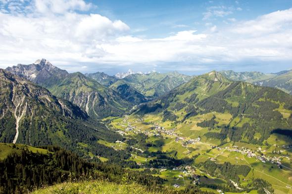 Die vermeintliche schönste Sackgasse in den österreichischen Alpen: das Kleinwalsertal.