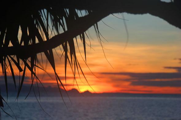Überaus stimmungsvoll: Sonnenuntergang bei Mae Nam. (Foto Karsten-Thilo Raab)