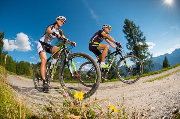 Mpuntainbiker finden in diesem Teil Österreichs ein dichtes Geflecht an Wegen.