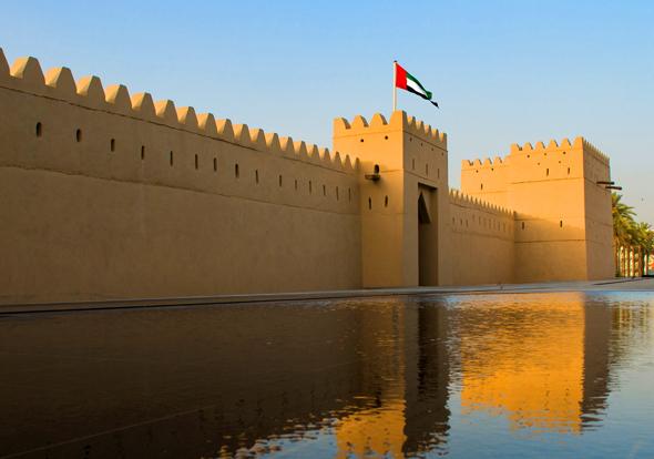 Qasr Al Muwaiji, Geburtsort des Präsidenten der Vereinigten Arabischen Emirate, Scheich Khalifa Bin Zayed Al Nahyan, wurde liebevoll restauriert.
