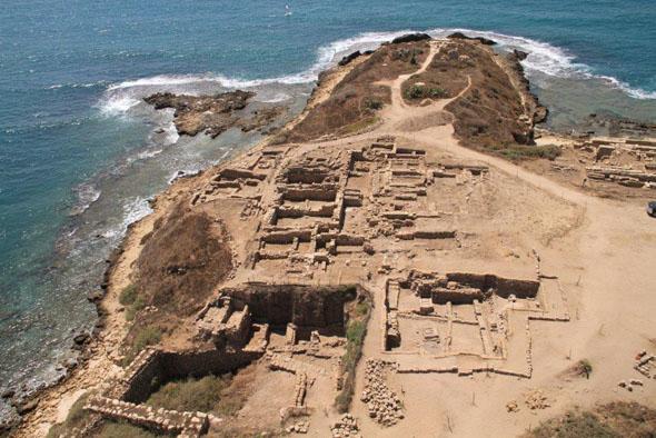 Spannendes archäologisches Entdeckungsfeld: die Ausgrabungsstätte Tel Dor in Israel. (Foto SkyView Photography)