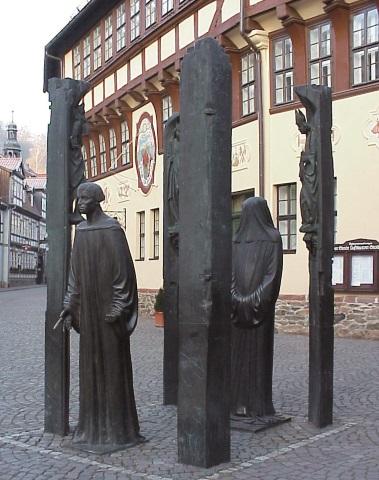Das markante Thomas Müntzer Denkmal in Stolberg