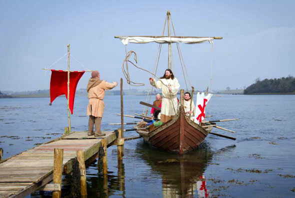 Auch die Ankunft von St. Patrick in Irland wird traditionell nachgestellt.