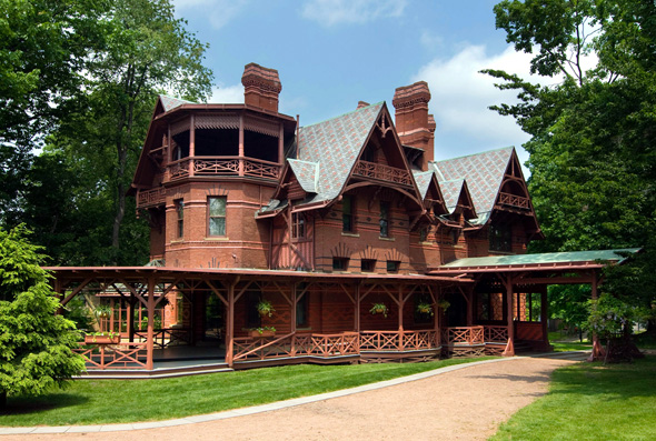 Das Haus von Mark Twain in Hartford (Foto John Groo)