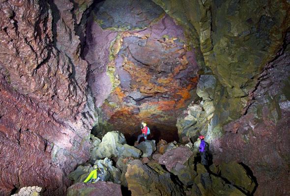 Unterirdische Faszination nördlich von Reykjavik: die Höhle Vidgelmir. (Fotos The Cave)