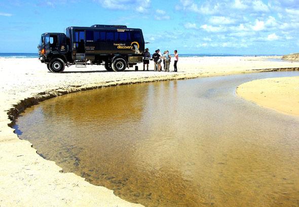 Mehr geht nicht: Maxistrand auf Fraser Island. (Foto Katharina Büttel)