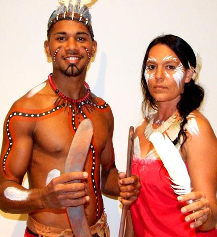 Zelebrieren alte Riten: Aboriginal Tänzer in Queensland. (Foto Katharina Büttel)