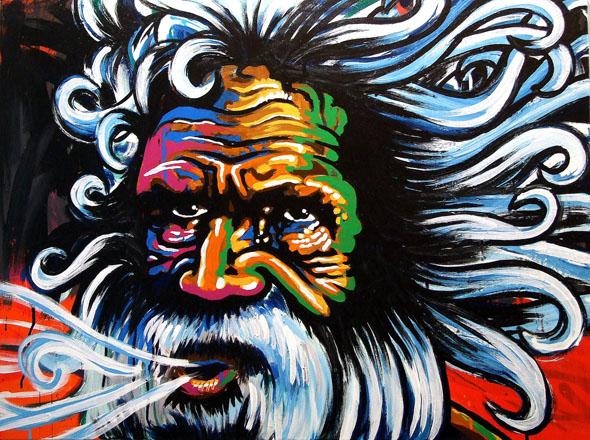 Expressive, moderne Aboriginal Kunst. (Foto Katharina Büttel)