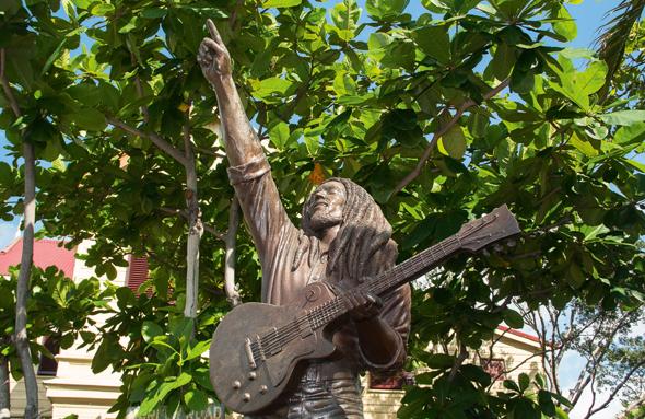 Auch Songs der Regaae-Legende Bob Marley stehen beim Sumfest im Fokus. (Foto Jamaica Tourist Board)