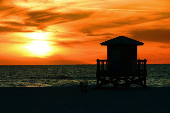 Fast schon kitschig schön: die Sonnenuntergänge in Clearwater. (Foto Karsten-Thilo Raab)