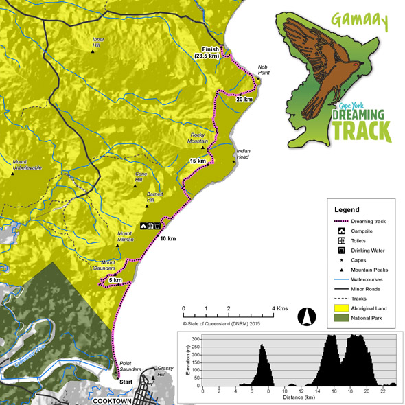 Übersichtskarte für den Gamaay Dreaming Track. (Foto Balkanu)