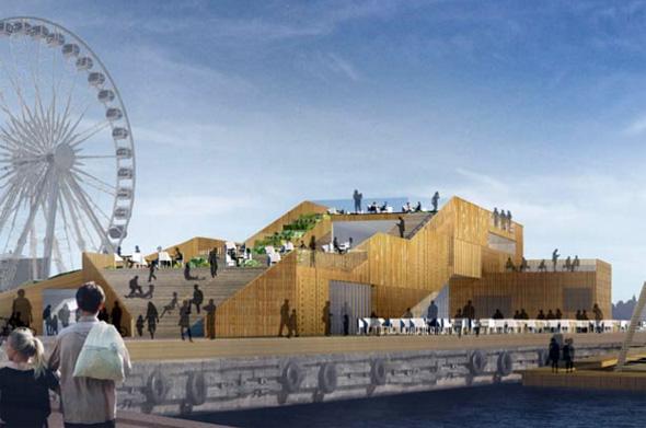 Setzt auch optisch Akzente: das neues Meereswasser-Schwimmbad in Helsinki. (Foto Visit Finland)