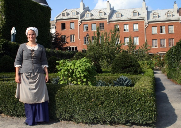 Am Musee du Chateau Ramezay wissen auch die Historischen Gärten zu faszinieren. (Foto Karsten-Thilo Raab)