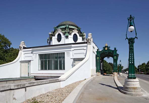 Architektonisches Kleinod: der Otto Wagner Hofpavillon Hietzing. (Foto Wolfgang Thaler)