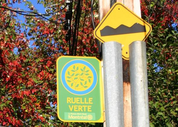 In einer Ruelle Verte genießen Radfahrer Priorität. (Foto Karsten-Thilo Raab)