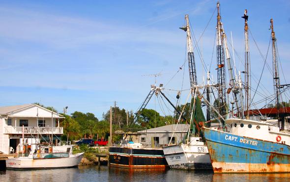 Fischerboote im Hafen von Tarpon Springs. (Foto Karsten-Thilo Raab)