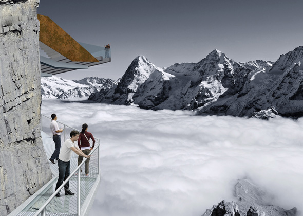 Neuer Nervenkitzel im Berner Oberland: der Thrill Walk. (Foto Schweiz Tourismus)