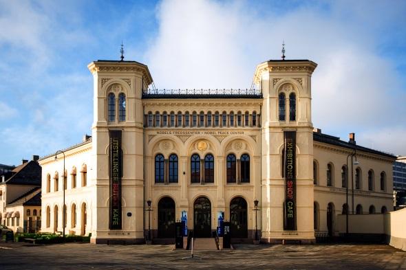 Das Nobel Fredssenter in Oslo ist im alten Westbahnhof der Stadt unweit des Hafens beheimatet. (Foto Johannes Granseth)
