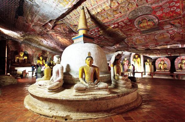 Beeindruckendes Zeugnis einer langen Kultur: der Höhlentempel in Dambulla