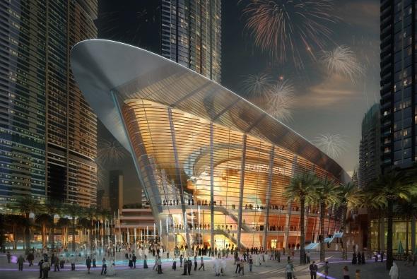 Das neue kulturelle Aushängeschild des Emirats am Persischen Golf: die Dubai Opera.