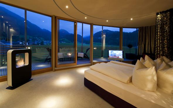 Grandioser Ausblick und Wohlfühlatmosphäre in einer der Top-Suiten.