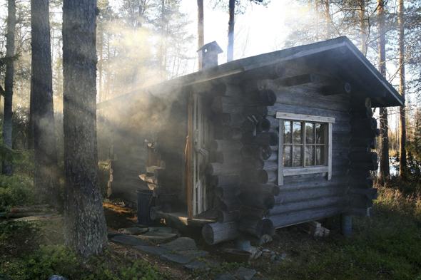 Wo ein See ist, ist in Finnland eine Blockhütte mit Sauna eigentlich nie weit. (Foto Saara Kostama)