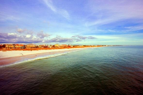 Der Mexico Beach wirkt fast endlos lang - und das nicht nur vom Wasser aus. (Foto Mexico Beach Community Development Council)