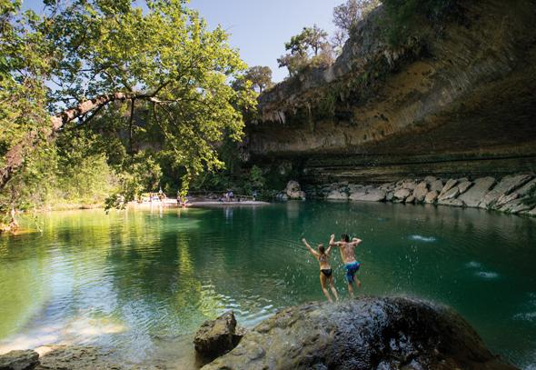 Der Hamilton Pool wurde von deutschen Einwanderern entdeckt. (Foto Austin Convention & Visitors Bureau)