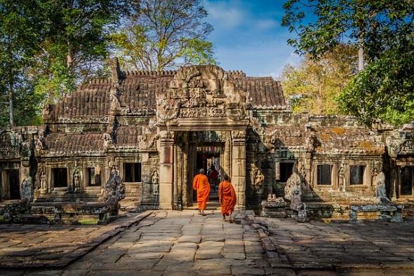 In der Tempelanlage Angkor Wat in Kambodscha ist viel nackte Haut nicht mehr geduldet.