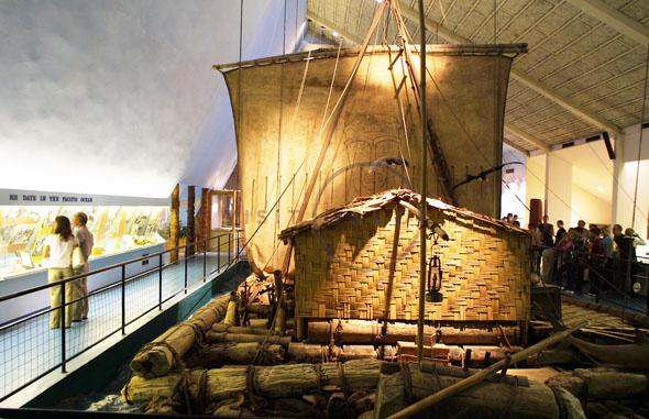Das Kon-Tiki - das wohl berühmteste Floß der Welt. (Foto Gunnar Strøm)