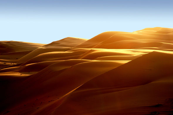Eine faszinierende Laune der Natur: die Sanddünen in der Liwa Wüste.