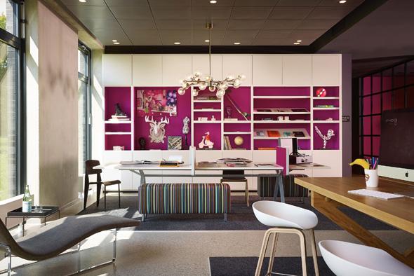 Der Living Room ist das Herzstück des mittlerweile zweiten Moxy-Hotels in Deutschland. (Foto Marriott)