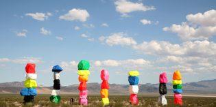 Bunte Farbenwelt in der Wüste von Nevada