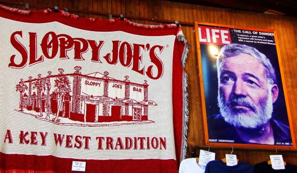 Untrennbar miteinander verbunden: Sloppy Joe's und Schriftsteller Ernest Hemingway. (Foto Katharina Büttel)