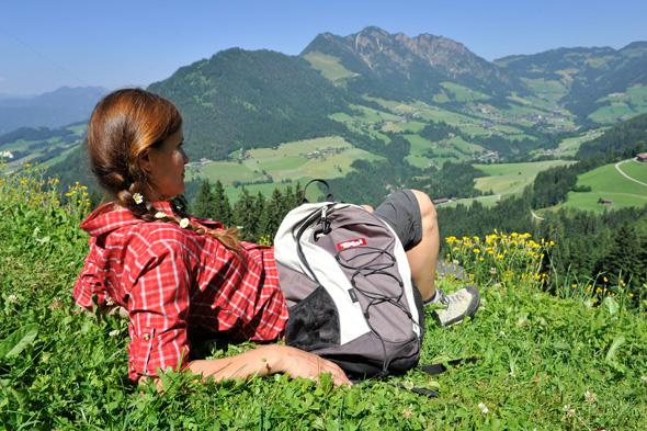 Blick auf den Gratlspitz, den Hausberg von Alpbach (Foto Alpbachtal Seenland)