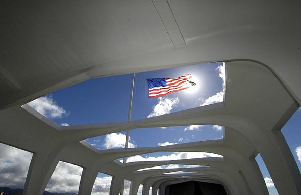Symbolträchtige Gedenkstätte: die USS Arizona.