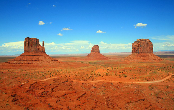 Traumlandschaft und Traumkulisse in Utah: das Monument Valley.