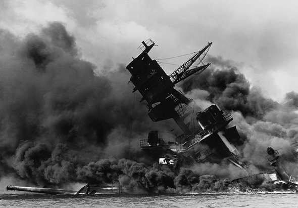 Dunkle Erinnerung an den Angriff auf Pearl Harbor.